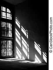 Light from the window of the castle - Contrast light from a...