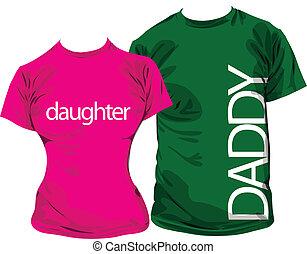 Family tshirts, vector illustration