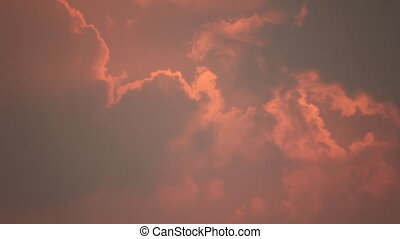 Red sky clouds