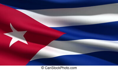 Cuban flag, 3d animation perfect seamless loop