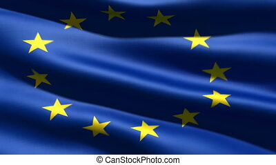 Eurounion flag, 3d animation perfect seamless loop