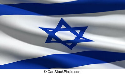 Israeli flag, 3d animation. perfect seamless loop