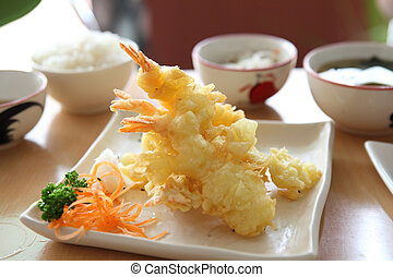 Tempura Fried shrimp Japanese style