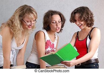 three student-like girls