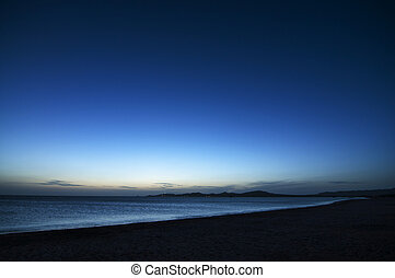 Cabo de la Vela Blue Hour - The beach at Cabo de la Vela,...