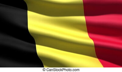 Belgian flag, 3d animation. perfect seamless loop