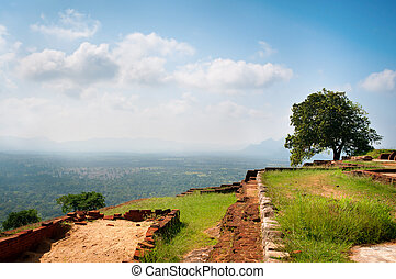 Sigiriya - the palace and fortress on the rock - Part of the...