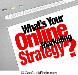What's Your Online Marketing Strategy Website Screen Plan