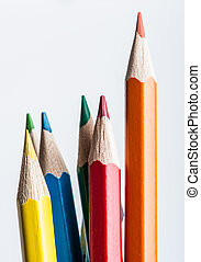 color pencil on white background photo