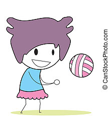 girl volley ball
