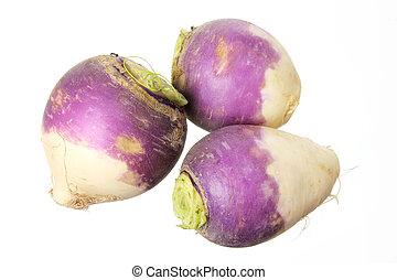 Turnips on White Background