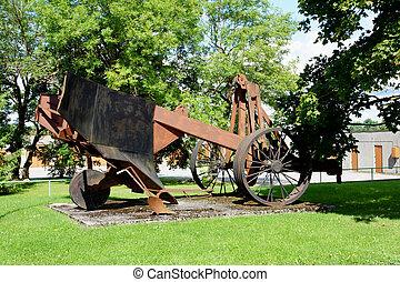 Plough - The big metal plough on steel wheels
