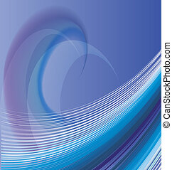 Waves abstract design vector