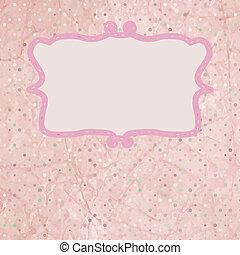 Pink Polka Dot Invitation Card. EPS 8