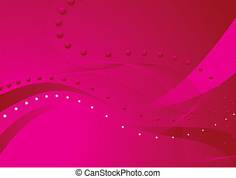 pink blend - Abstract background with wavy lines and a pink...