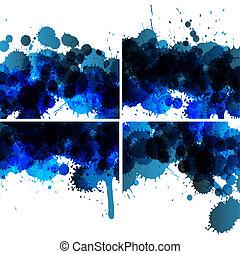 Vector set of ink blots backgrounds