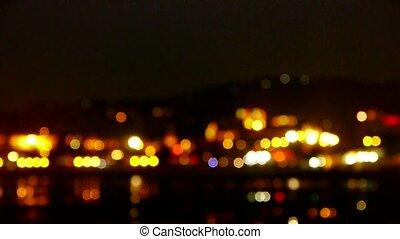 Shaking lighting at night.