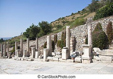 Old Town of Ephesus. Turkey - Old Ruined Town of Ephesus....