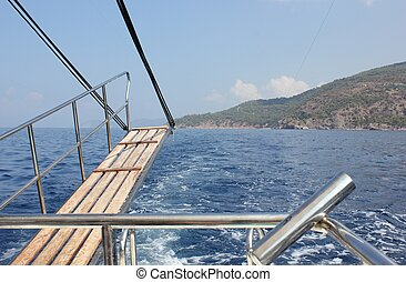 Fishing trip - on a fishing boat with deep blue sea's and...