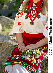 the girl in the Ukrainian national costume Outdoor
