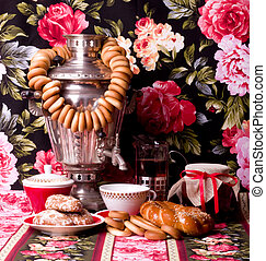 traditional old Russian tea - Samovar, a traditional old...