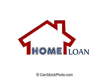 home loan - One house with a wall around it made with the...