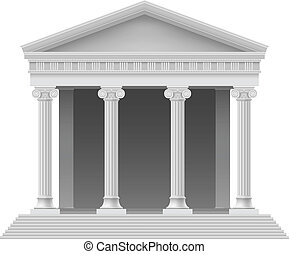 Architectural element - Portico an ancient temple Colonnade...