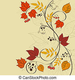 Fall background - Vector autumn background design
