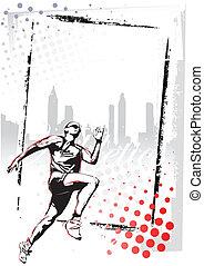 athletics poster  - illustration of runner