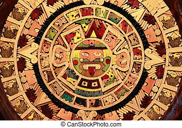 Aztec calendar - Close up view of a Aztec Calendar