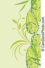 Background with green ornament