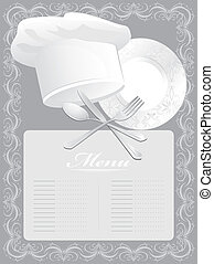 Blank for menu card