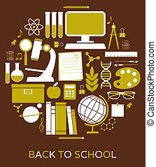 Back to School  - A set of school and education icons.