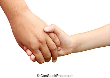 Children Holding Hands - Children holding hands as a symbol...
