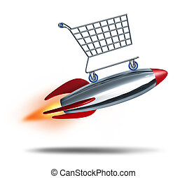 Speed Shopping - Speed shopping and quick check out concept...