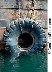used tires on the ship