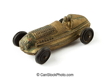 Antique toy racing car
