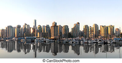 Vancouver Skyline Panorama from the Seawall.
