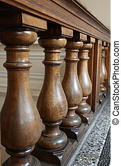 balusters  - The old oak balusters architectural element