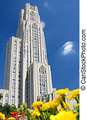 Cathedral of Learning at the University of Pittsburgh, in...
