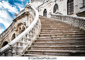 grand stairs of the church