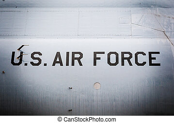Detailed view of fighter plane - United States of America...