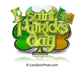 St Patricks Day Graphic on Shamrock - St Patricks Day...