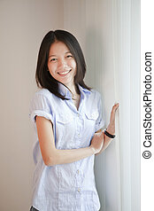 smile face of Asian woman