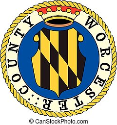 Worchester county seal - Various vector flags, state...