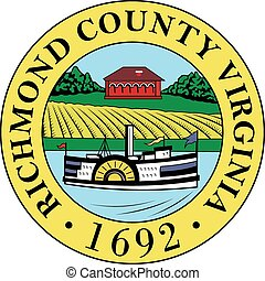 Richmond county seal - Various vector flags, state symbols,...