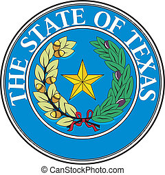 Texas seal - Various vector flags, state symbols, emblems of...