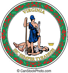 Virginia seal - Various vector flags, state symbols, emblems...