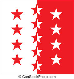 Valais flag - Various vector flags, state symbols, emblems...