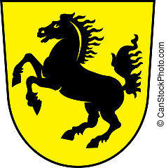 Stuttgart city coa - Various vector flags, state symbols,...